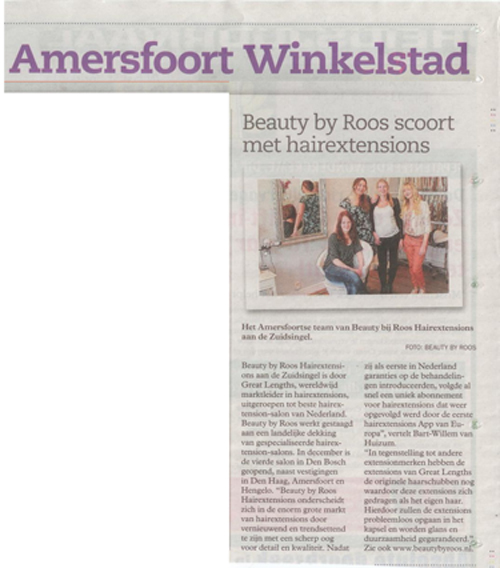 Amersfoort NU bij Beauty by Roos Hairextensions
