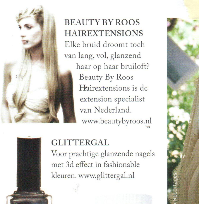 Glossy Wedding hairextensions artikel