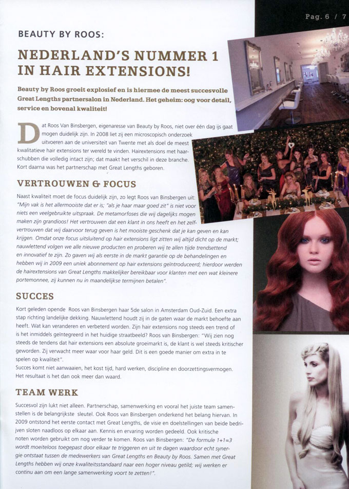 Artikel Beauty by Roos Hairextensions beste salon van Nederland