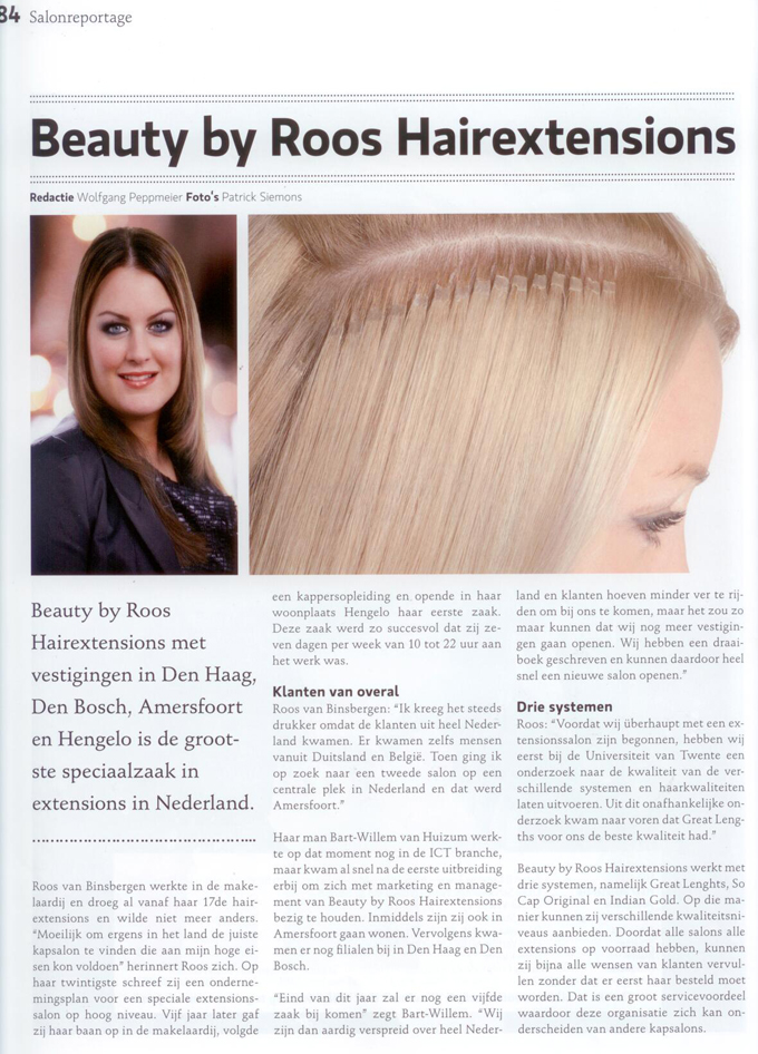 Top Hair Salon reportage Beauty by Roos Hairextensions