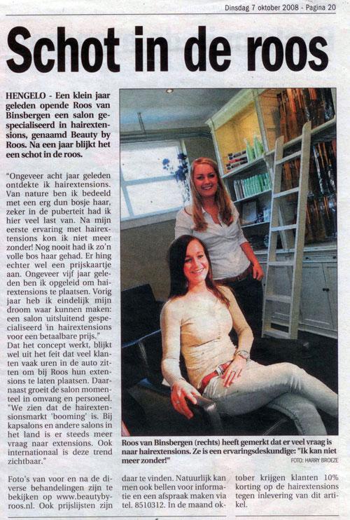Hengelo's Weekblad – schot in de roos