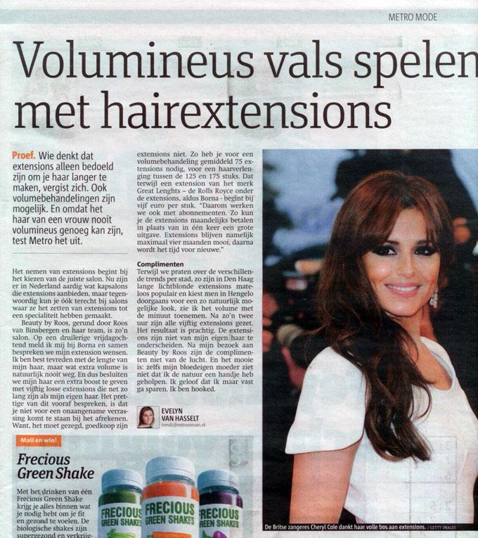 Beauty by Roos artikel haar met volume in de Metro