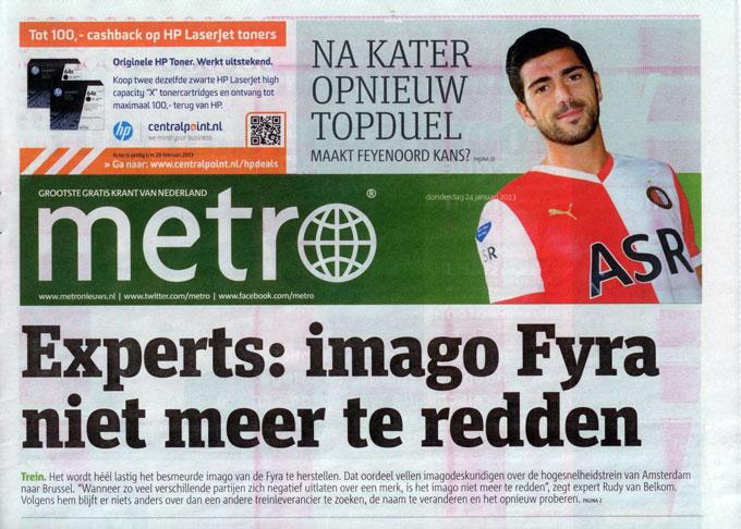 Metro Krant van Nederland – jan-13