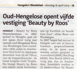Beauty by Roos Hairextensions opent vijfde salon in Hengelo weekblad