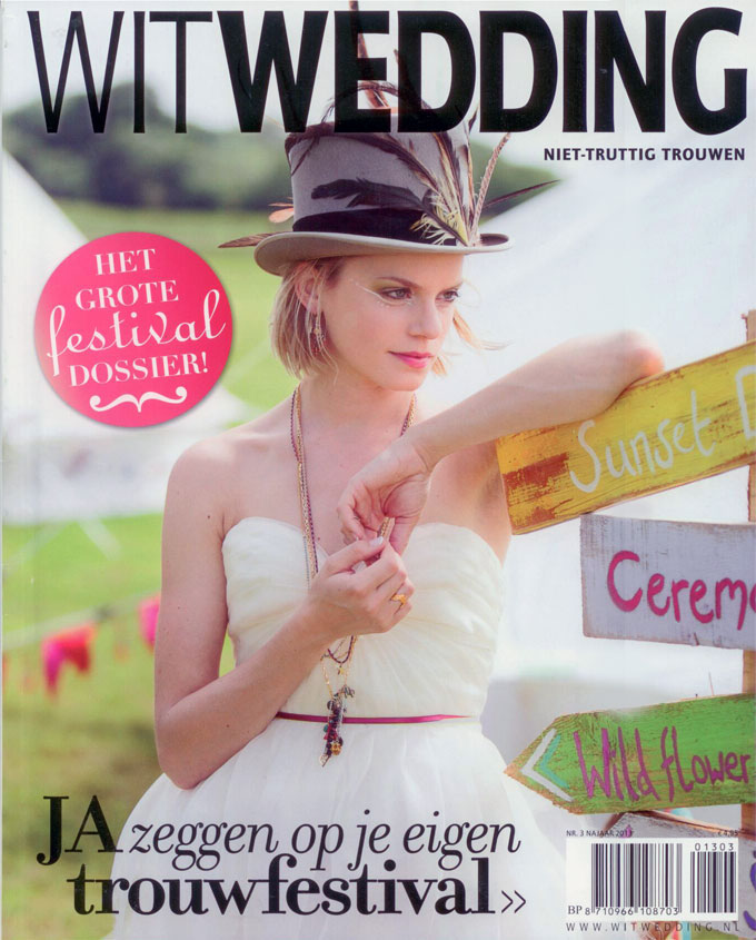 Cover Wit Wedding magazine Beauty by Roos Hairextensions