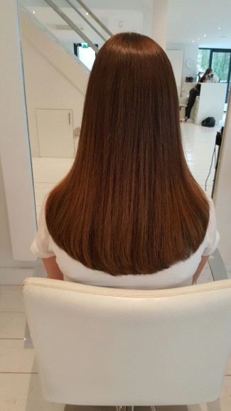 bruine hairextensions