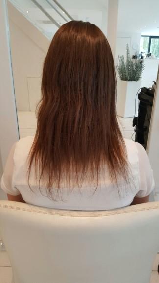 bruin haar zonder haarverlenging