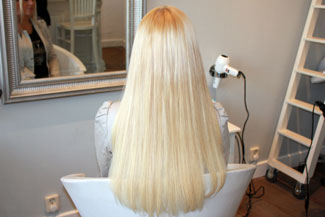 Almere met hairextensions