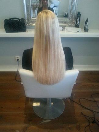 Eindresultaat met hairextensions
