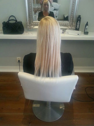 Islean zonder hairextensions