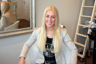 Shirley uit Rotterdam met hairextensions