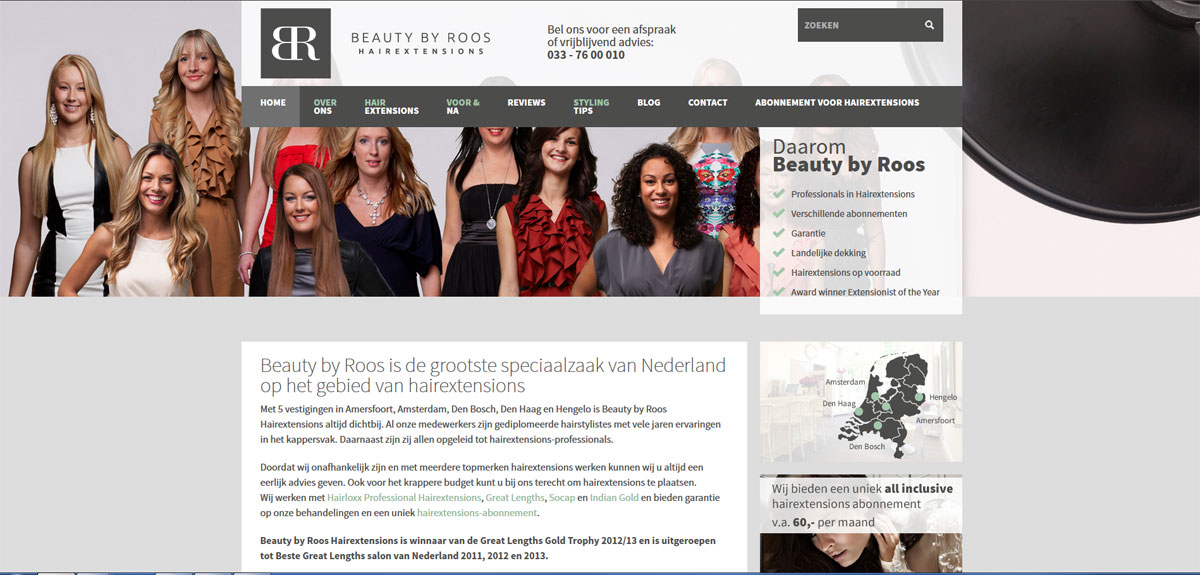 Nieuwe website Beauty by Roos Hairextensions