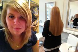 socap naar hairloxx Daphne heeft nieuwe hairextensions