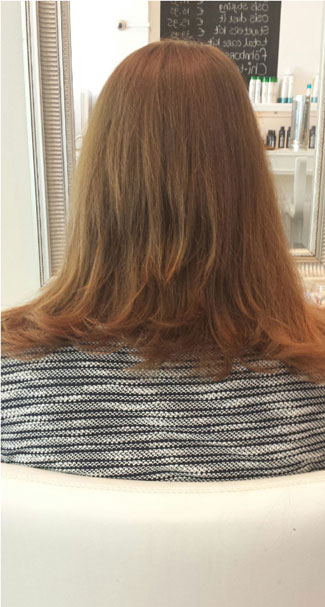 zonder hairextensions