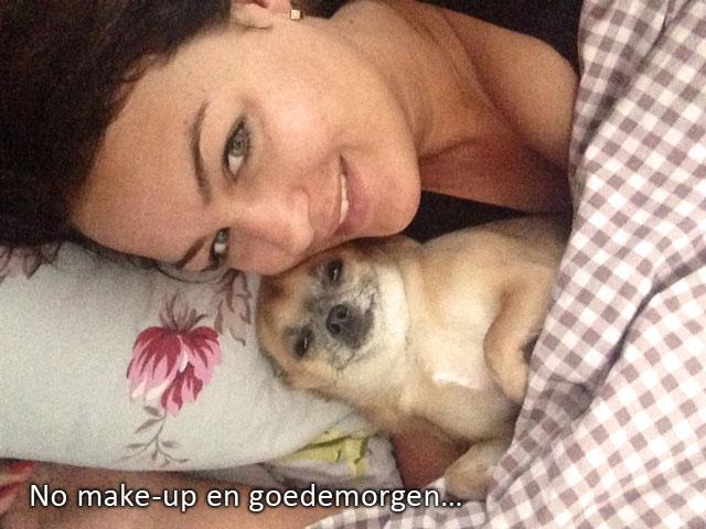 roos selfie met hond mini