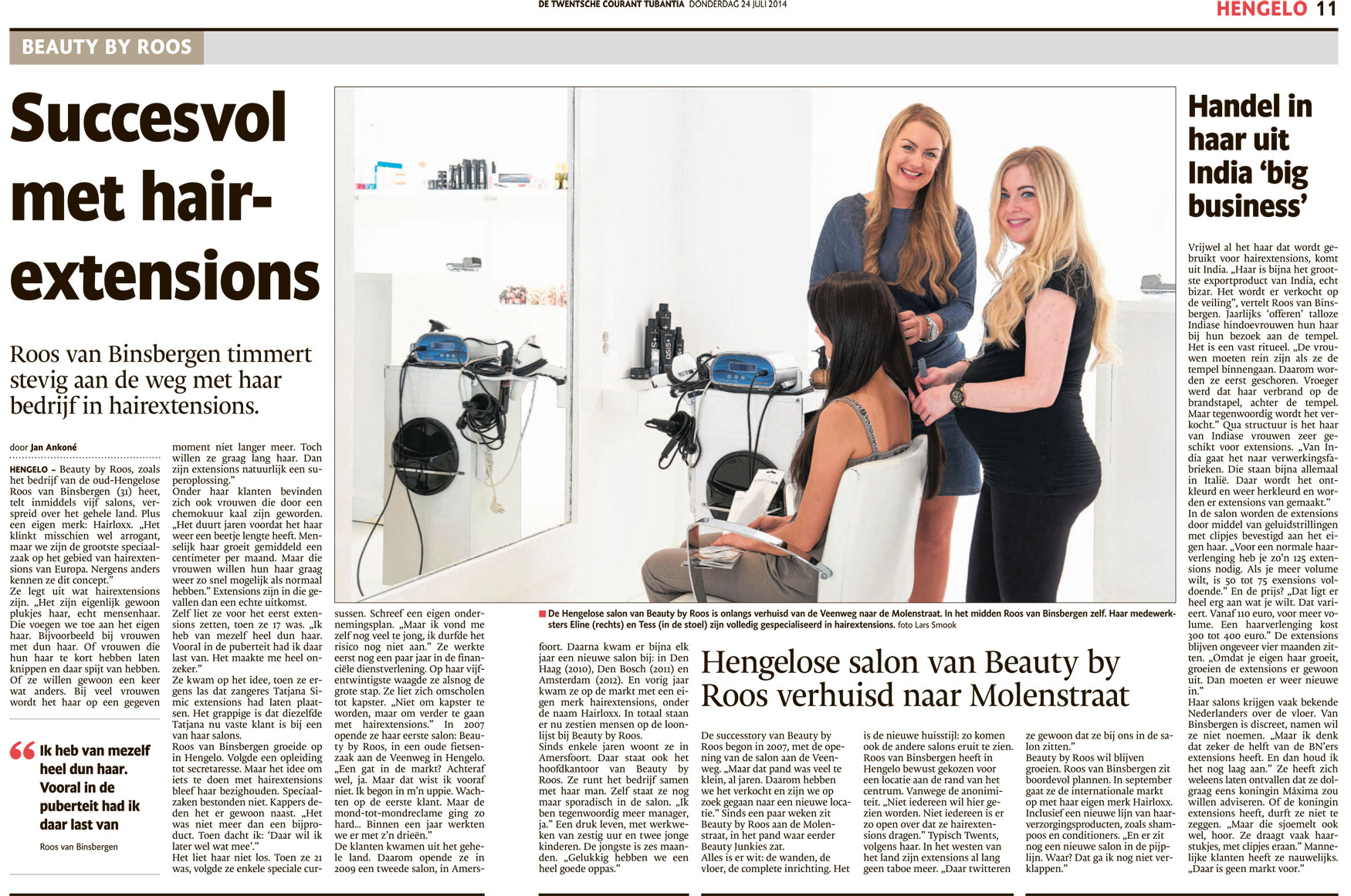 Succesvol TCT artikel over Beauty by Roos