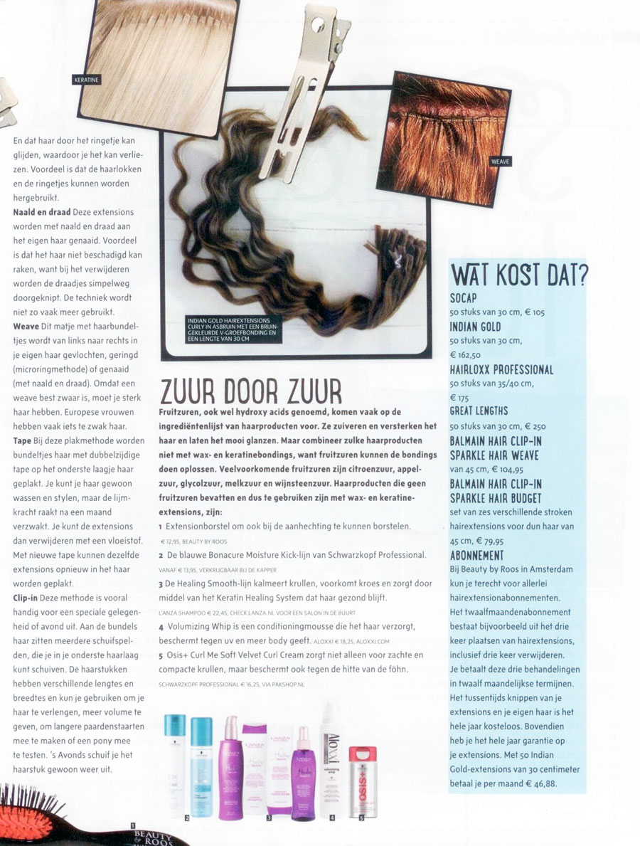 Wat kosten hairextensions in Viva Magazine