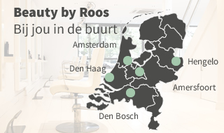 landelijke dekking beauty by roos landkaart