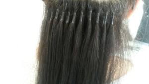 Hairextensions rond geplaatst