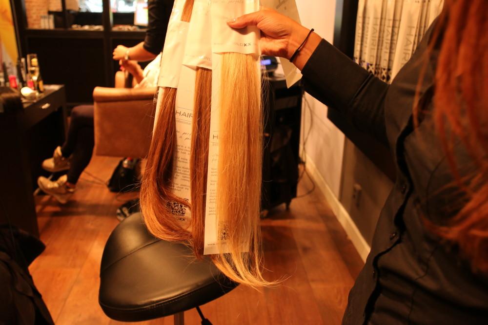 Hairloxx hairextensions drie kleuren