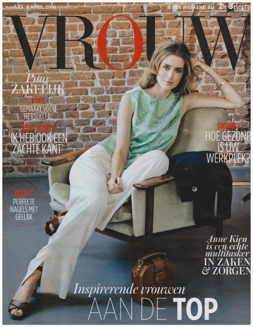 Topvrouwen Vrouw - magazine cover 08-04-2016