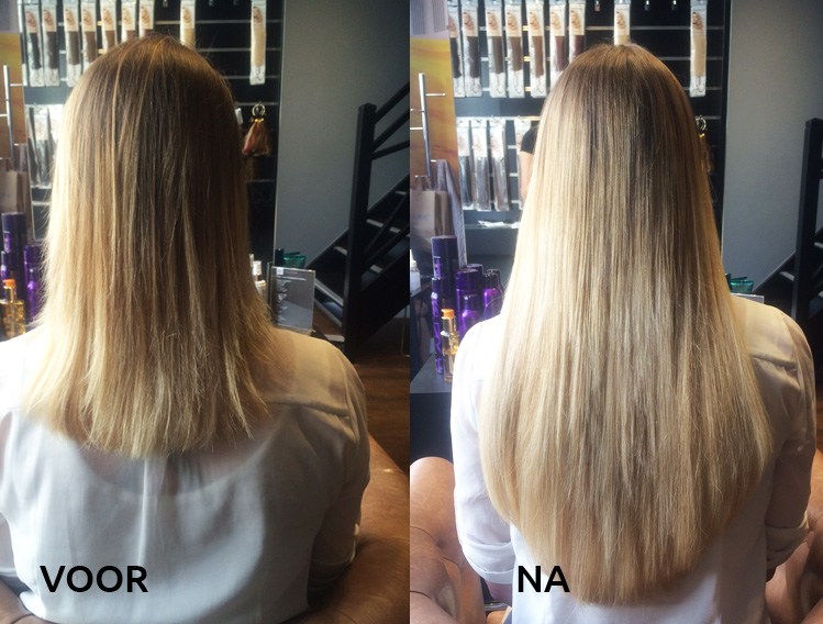 Hairloxx review hairextensions_voor en na