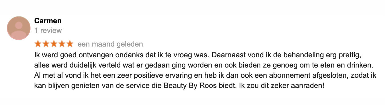 Ervaring Beauty by Roos Hairextensions Den Haag