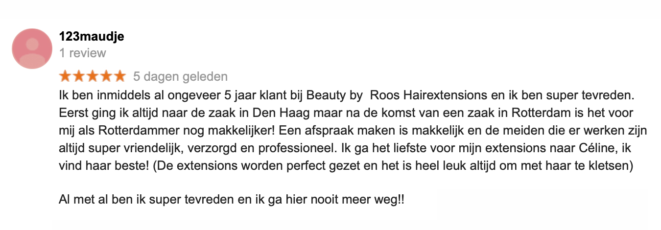 Ervaring hairextensions Rotterdam