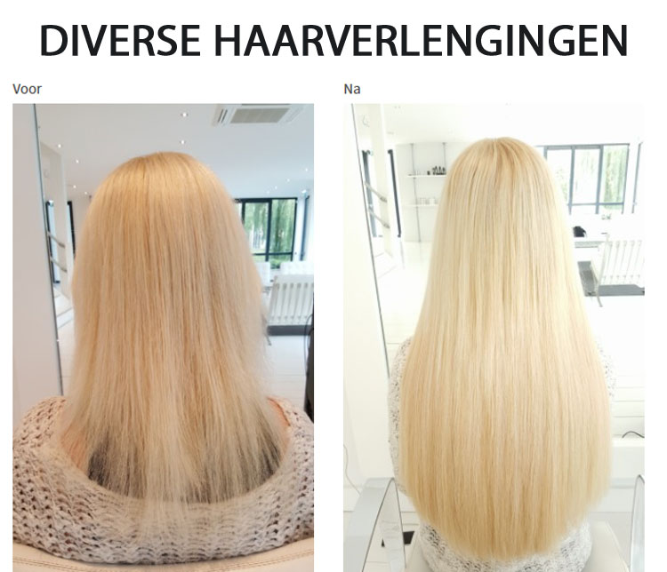 diverse haarverlengingen door Beauty by Roos