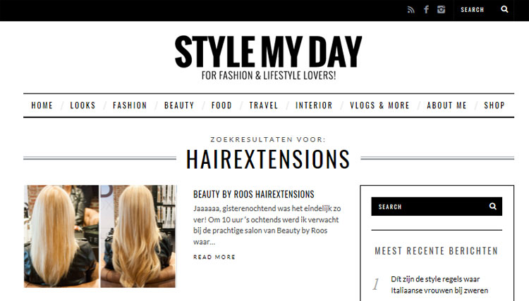 style my day roos van der aa hairextensions beauty by roos