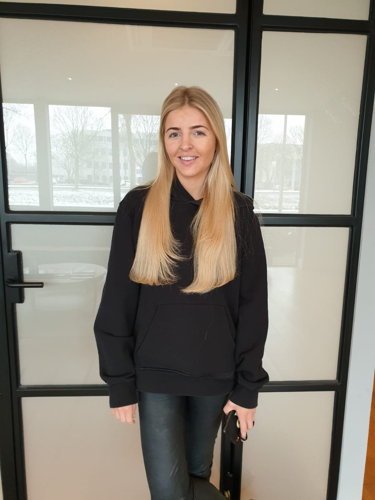 Lizzy Perridon met hairextensions van Beauty by Roos na