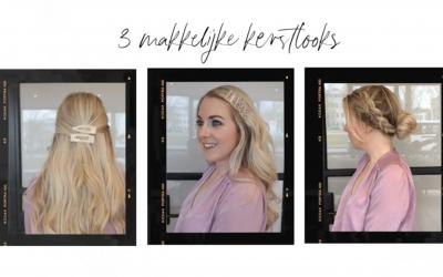 3 Kerst haarstijlen met hairextensions