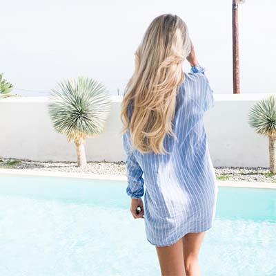 beachwaves met hairextensions